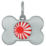 Japanese Rising Sun Flag Pet Name Tag
