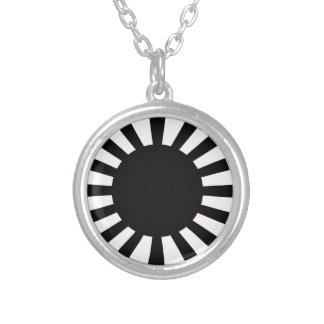 Japanese Rising Sun Flag Silver Plated Necklace