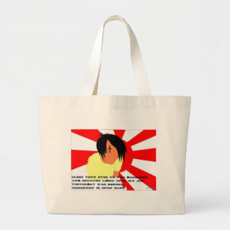 Japanese Rising Sun Large Tote Bag