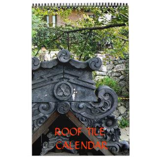 Japanese Roof Tile Calendar