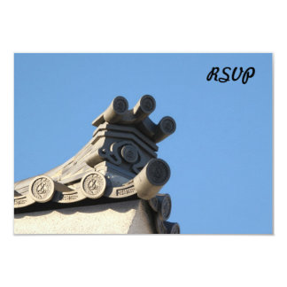 "Japanese Rooftop 3.5"" X 5"" Invitation Card"