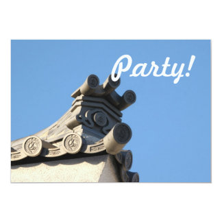 "Japanese Rooftop 5"" X 7"" Invitation Card"