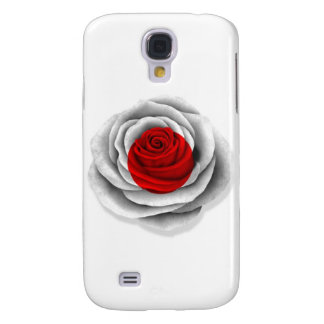 Japanese Rose Flag on White Galaxy S4 Cover