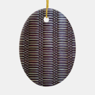 japanese rush carpet Double-Sided oval ceramic christmas ornament