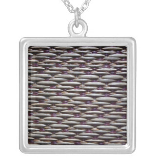 japanese rush carpet silver plated necklace