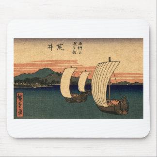 Japanese Sailing Ships Mouse Pad