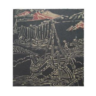 Japanese Sailing Ships Scratch Pad
