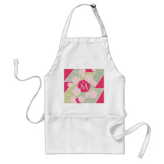 Japanese Sakura Cherry Blossoms Geometric Patterns Adult Apron