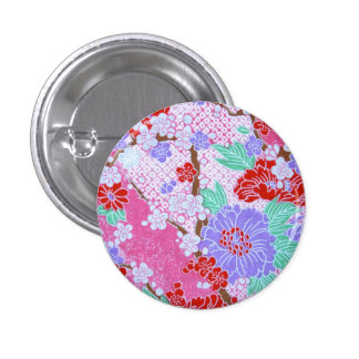 Japanese Sakura Pattern Button