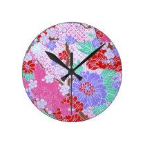Japanese Sakura Pattern Clock