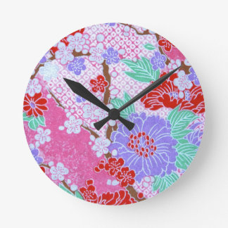 Japanese Sakura Pattern Clock