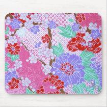 Japanese Sakura Pattern Mousepad
