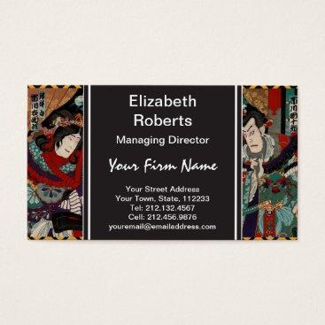 Beach Themed Japanese Samurai Business Card