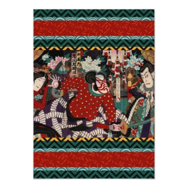 Beach Themed Japanese Samurai Card