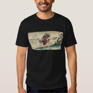 Japanese samurai fighting Scene T Shirt