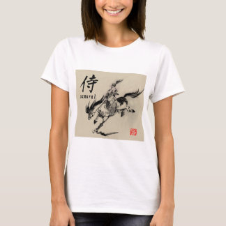 Japanese samurai horse art equestrian sumi T-Shirt