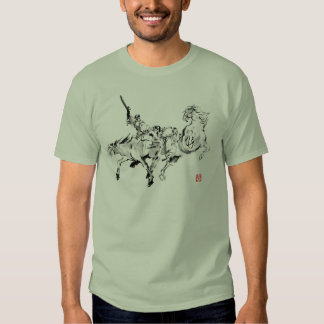 Japanese samurai horse art equestrian sumi tee shirt