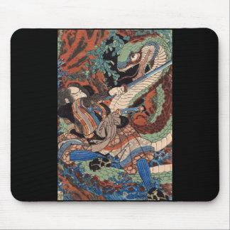 Japanese Samurai Painting c. 1800's Mousepads