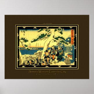 Japanese Samurai Updated Reproduction Poster