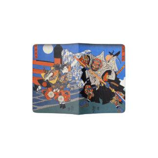 Japanese Samurai, Vintage Japanese Art Passport Holder