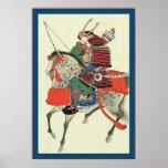 Japanese Samurai ~ Vintage Japanese Print