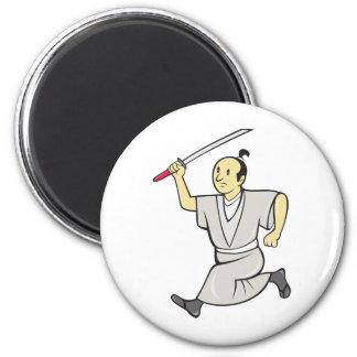 Japanese samurai warrior katana sword fighting refrigerator magnets