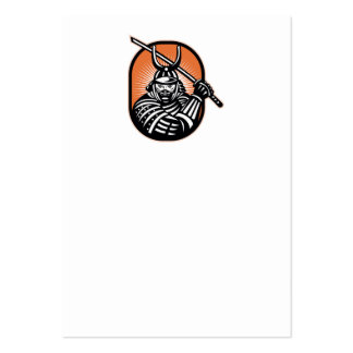 Japanese Samurai Warrior Sword Retro Large Business Cards (Pack Of 100)