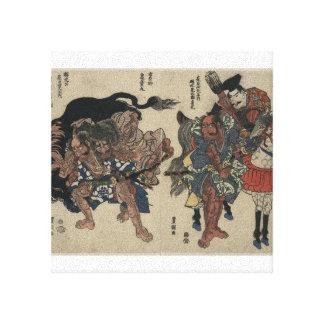 Japanese Samurai Warriors circa 1811 Canvas Print
