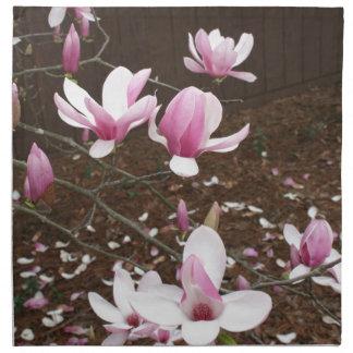 Japanese saucer Magnolia tree flower Napkin