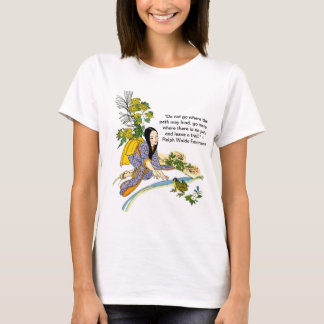 Japanese Scene With Emerson Quote Women's T-shirt