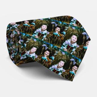 Japanese School Girls in the Garden Vintage Tie