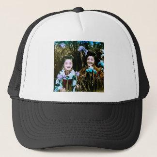 Japanese School Girls in the Garden Vintage Trucker Hat
