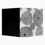 Japanese School's Chrysanthemums Vinyl Binder