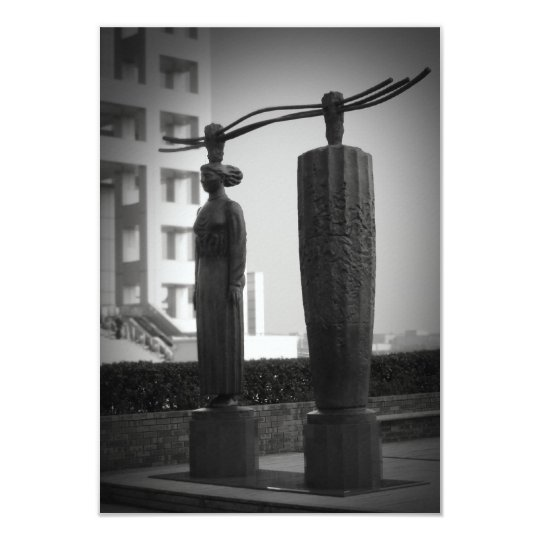 Japanese sculptures card