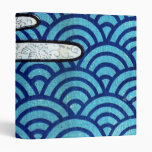 Japanese Sea and Clouds 3 Ring Binder