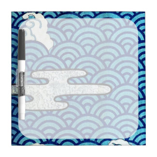 Japanese Sea and Clouds Dry-Erase Board
