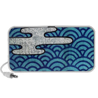 Japanese Sea and Clouds iPod Speaker