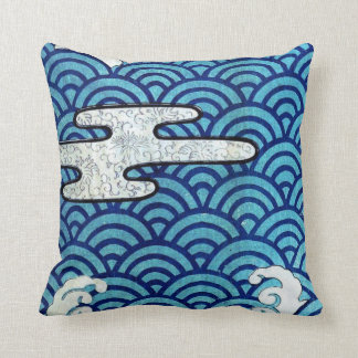Japanese Sea and Clouds Pillow