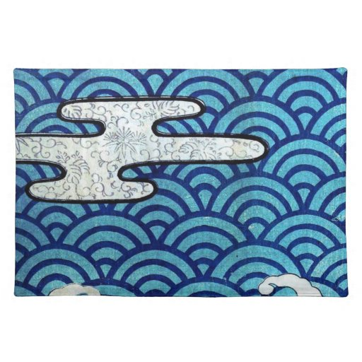 Japanese Sea And Clouds Place Mat Zazzle