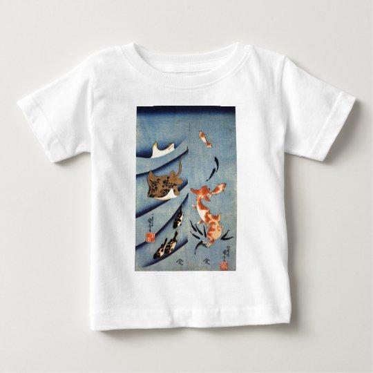 Japanese Sea Life, Ancient Japanese art. c. 1800's Baby T-Shirt