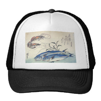 Japanese Sea Life Painting circa 1800's Trucker Hat