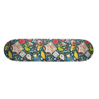 Japanese Seamless Pattern Skateboard