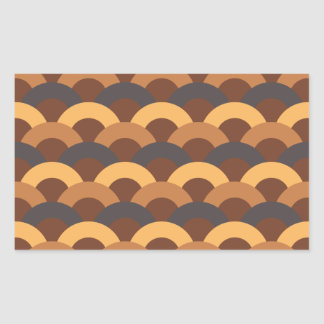 Japanese Seamless Pattern Rectangular Sticker