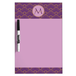 Japanese Seigaiha Scallop Purple Gold Pink Orient Dry-Erase Board