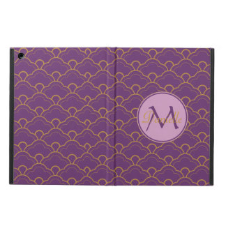 Japanese Seigaiha Scallop Purple Gold Pink Orient iPad Air Cases