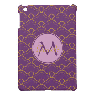 Japanese Seigaiha Scallop Purple Gold Pink Orient iPad Mini Cases