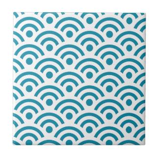Japanese Seigaiha Waves Seamless Pattern Tile
