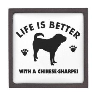 Japanese shar pei dog gift box