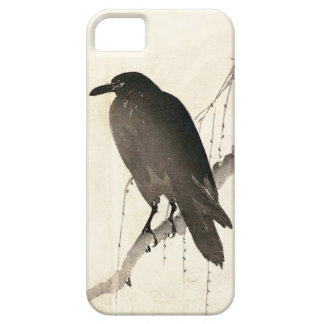 Japanese sketch of a raven iPhone 5 covers