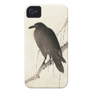 Japanese sketch of a raven Case-Mate iPhone 4 cases